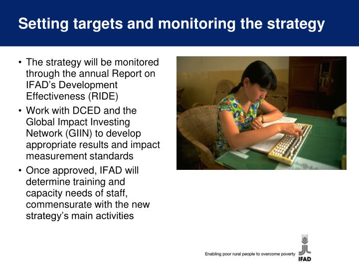 Setting targets and monitoring the