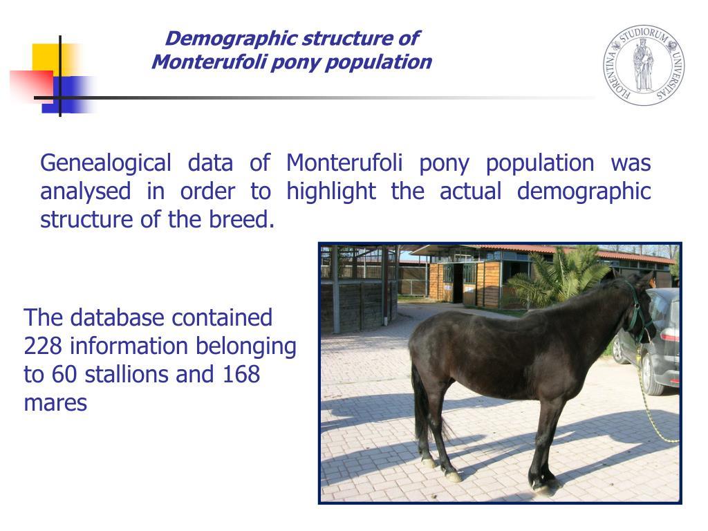 Demographic structure of Monterufoli pony population