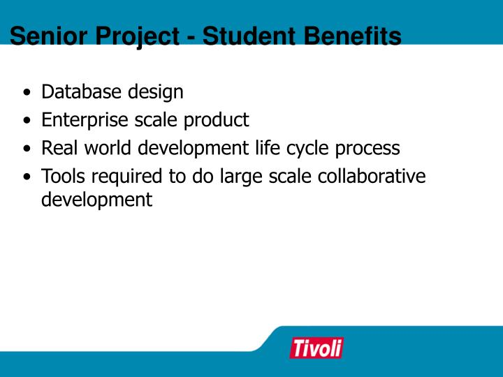 Senior Project - Student Benefits