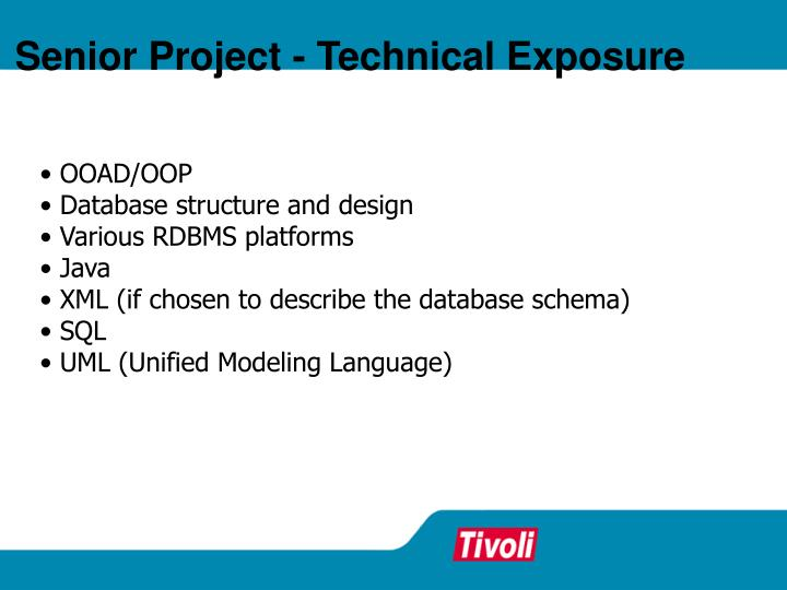 Senior Project - Technical Exposure