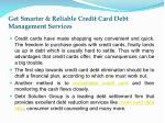 get smarter reliable credit card debt management services