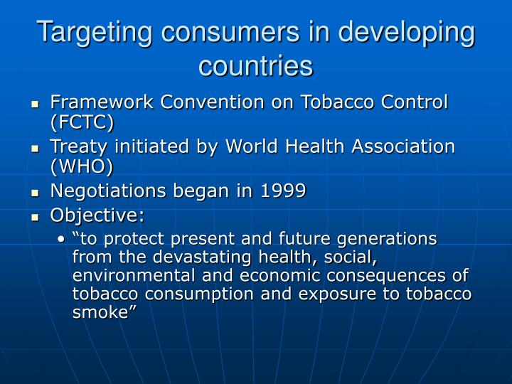 Targeting consumers in developing countries