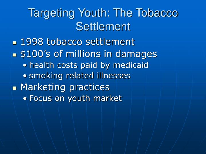 Targeting youth the tobacco settlement