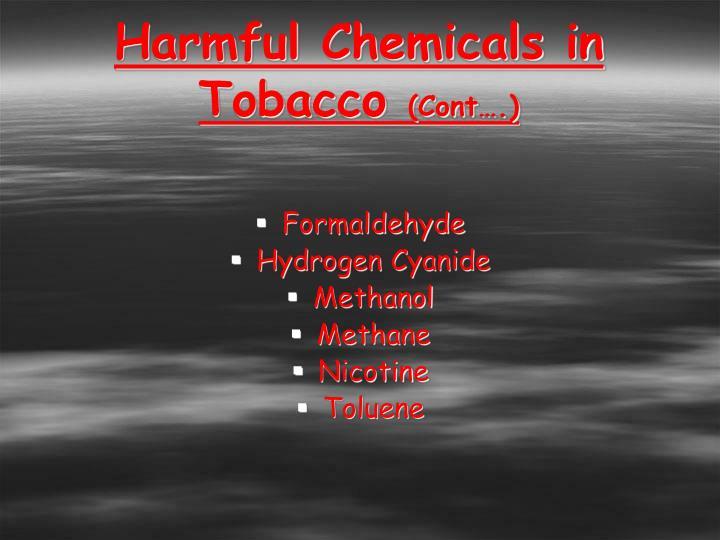 Harmful Chemicals in Tobacco