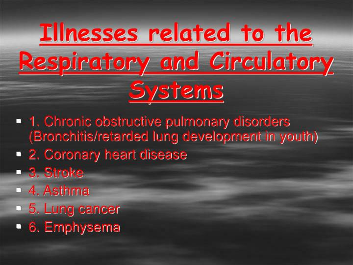 Illnesses related to the Respiratory and Circulatory Systems