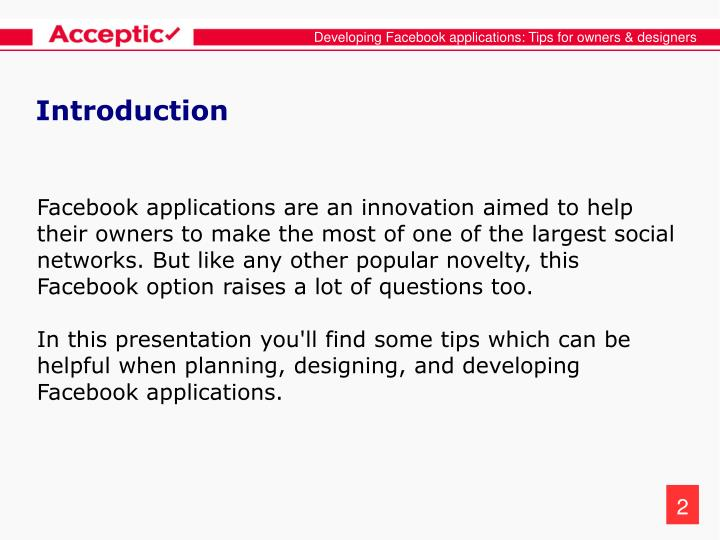 Developing facebook applications tips for owners designers