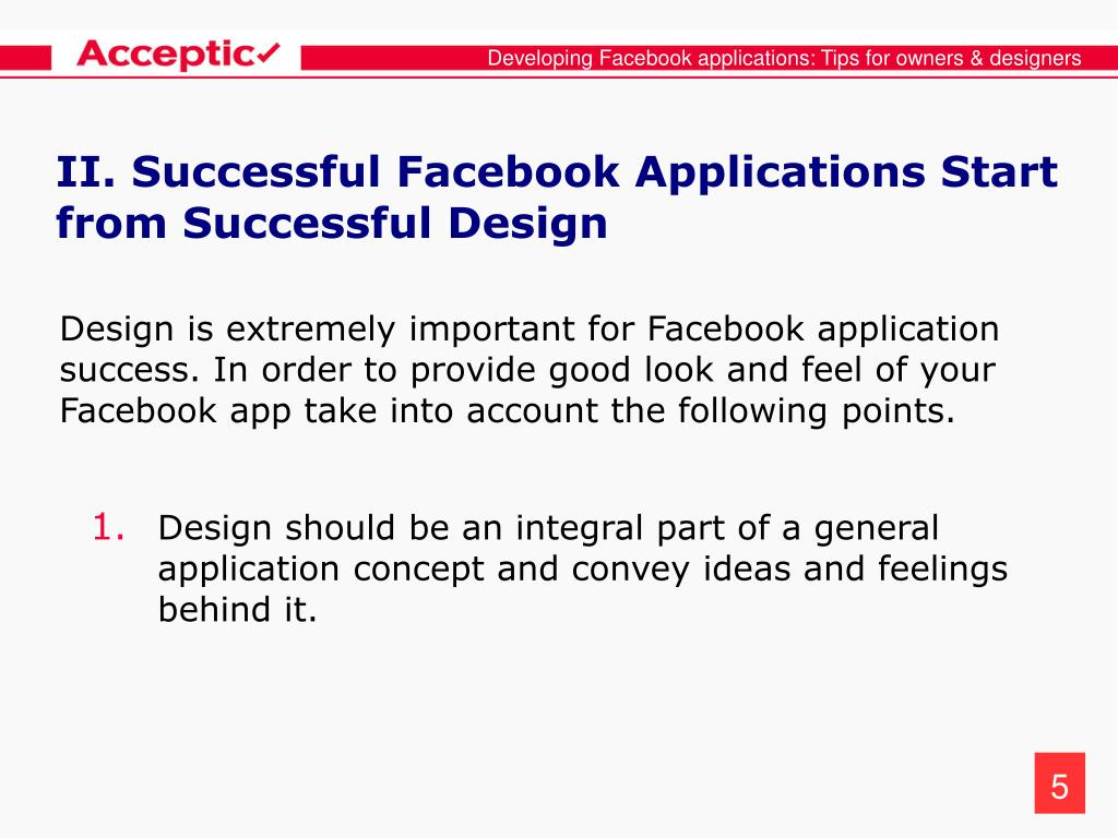 Developing Facebook applications: Tips for owners & designers