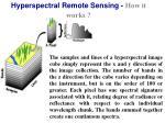 hyperspectral remote sensing how it works