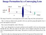 image formation by a converging lens1