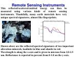 remote sensing instruments