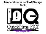 temperature in neck of storage tank