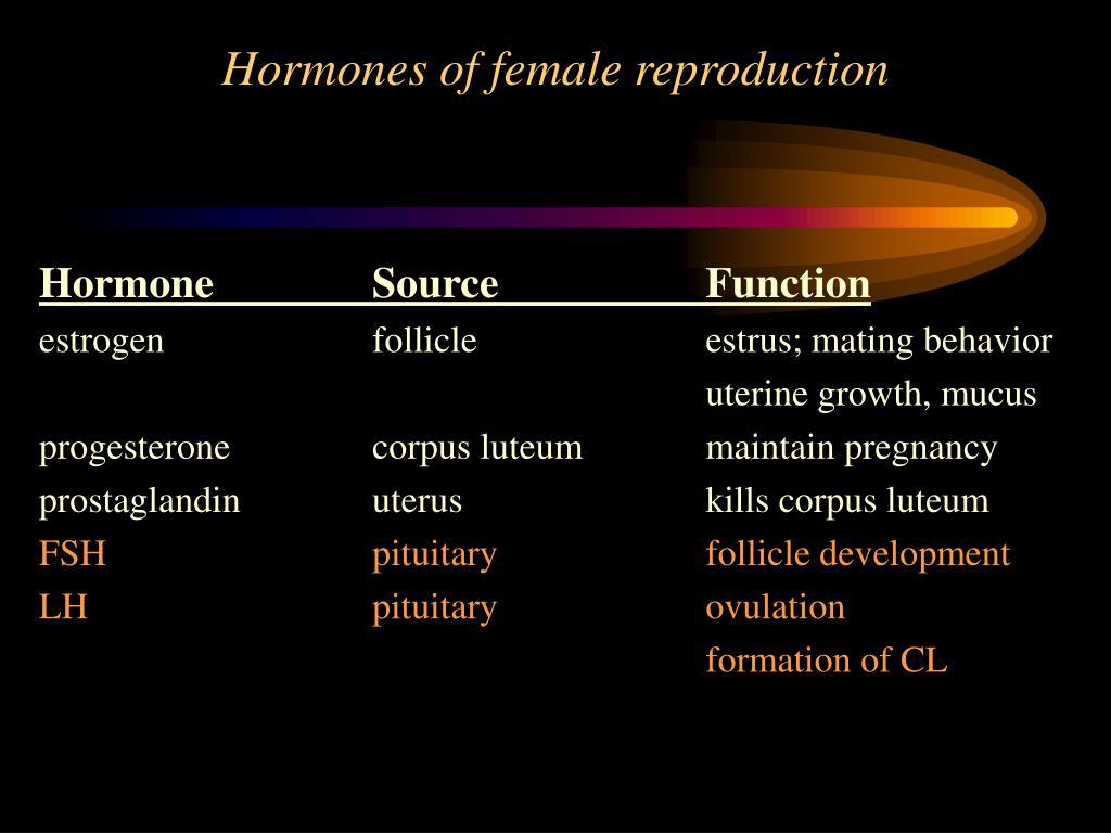 Hormones of female reproduction