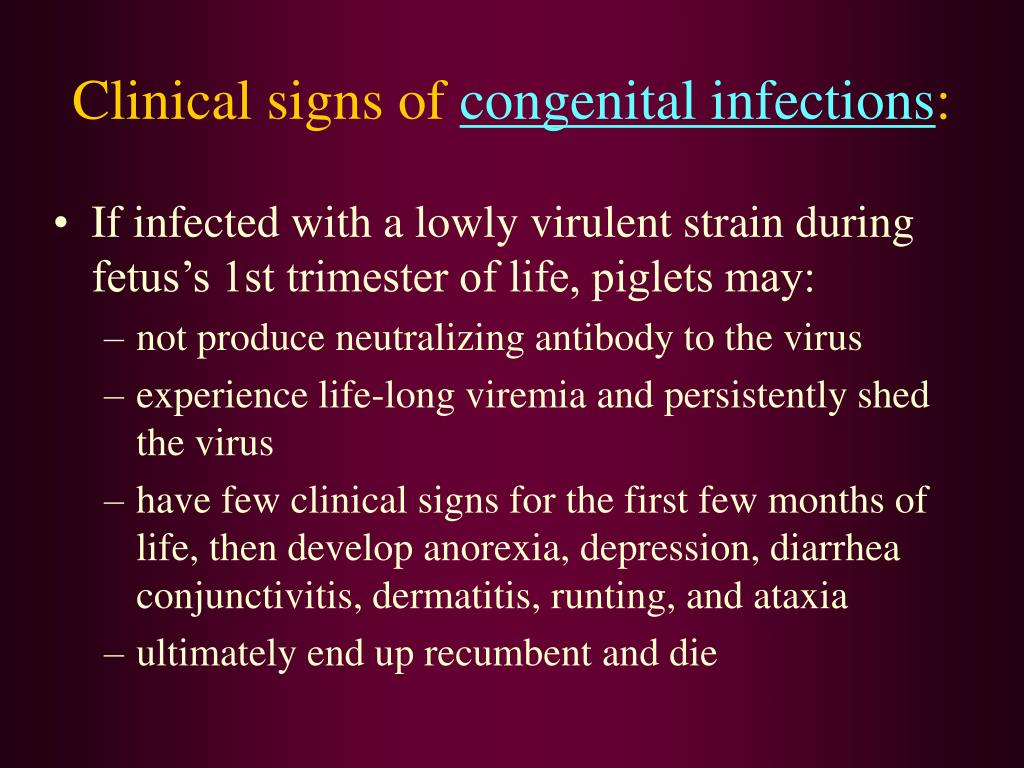 Clinical signs of
