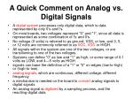 a quick comment on analog vs digital signals