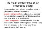 the major components on an embedded board