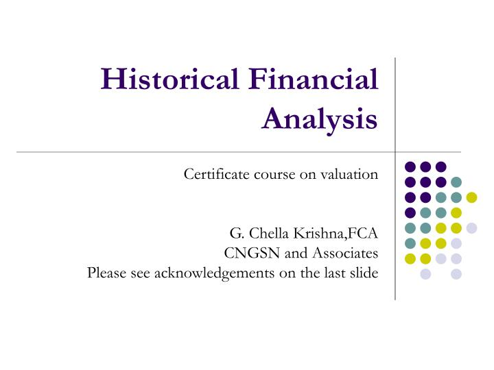historical financial analysis n.