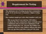 requirement for testing1