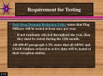 requirement for testing3