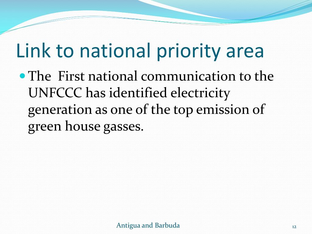 Link to national priority area