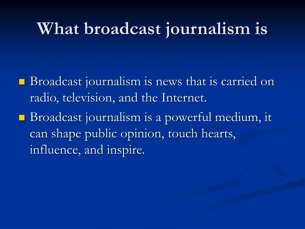 Radio Journalism Ppt