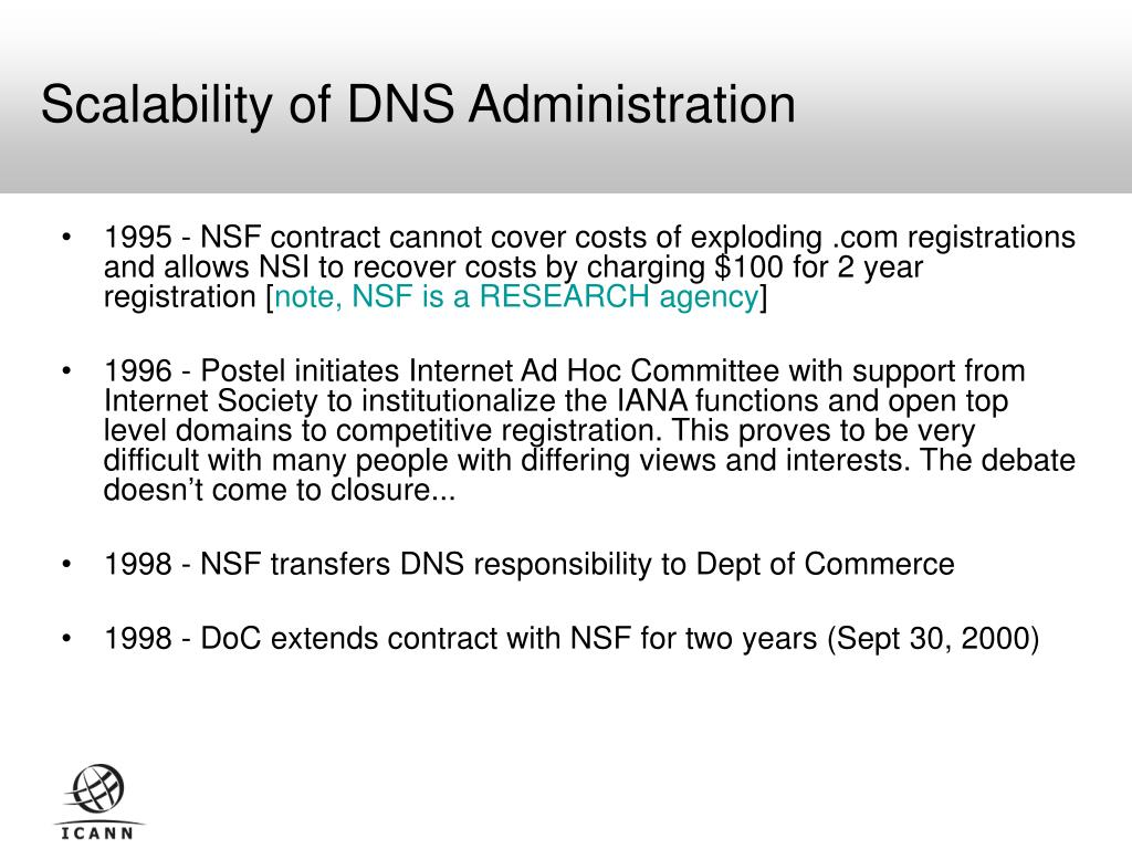 Scalability of DNS Administration