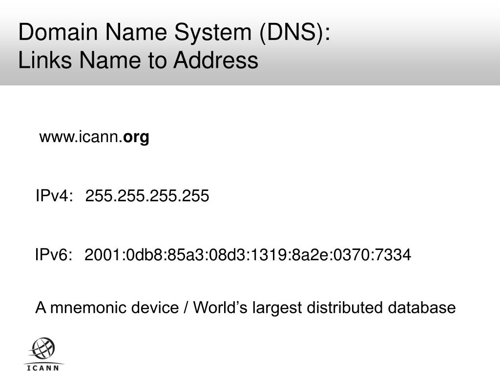 Domain Name System (DNS):