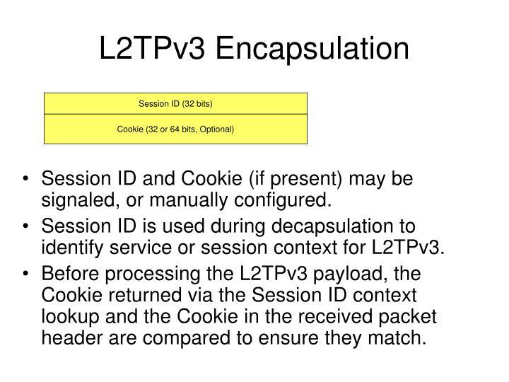 L2tpv3 encapsulation
