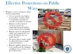 effective protections on public ways
