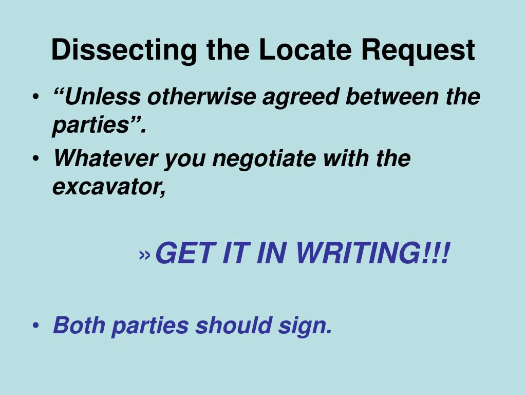 Dissecting the Locate Request