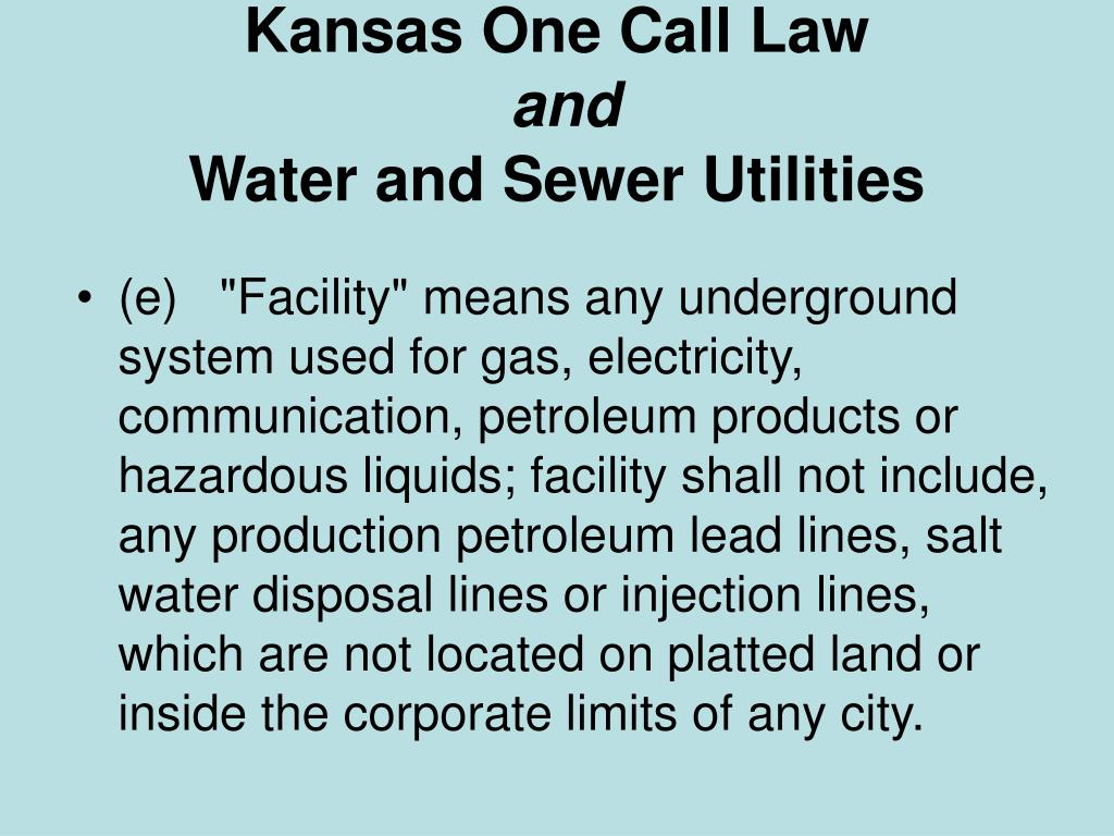 Kansas One Call Law