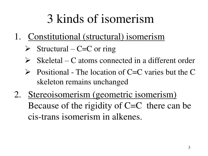 rate of isomerism of coen2cl2 essay The simplest example of geometric isomers are cis-2-butene and trans-2-butenein each molecule, the double bond is between carbons 2 and 3 in cis-2-butene, the methyl groups attached to carbons 2.
