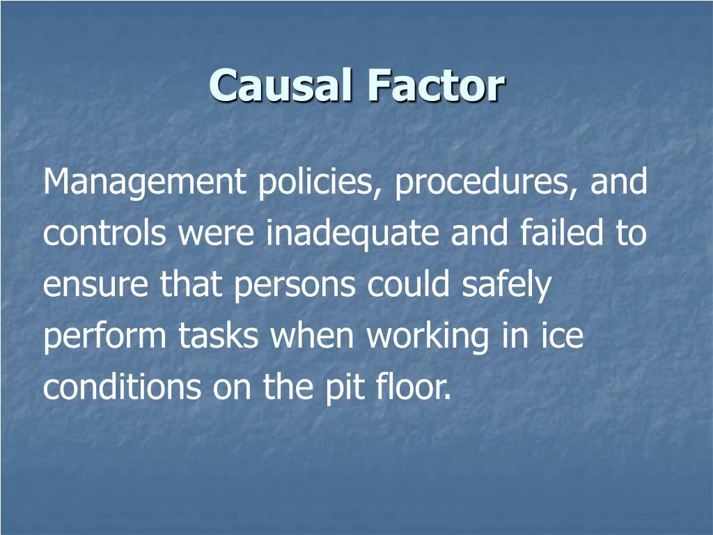 Causal Factor