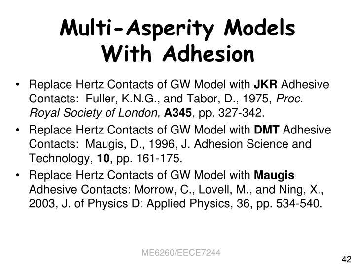 Multi-Asperity Models