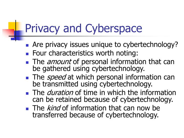 privacy and cyberspace n.