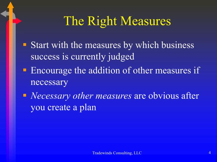 The Right Measures