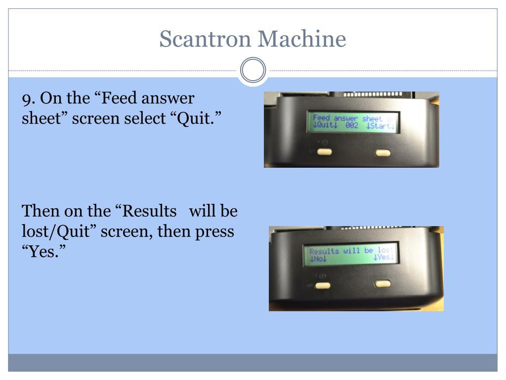 PPT - Scantron Machine PowerPoint Presentation - ID:1134419