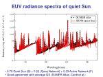 euv radiance spectra of quiet sun