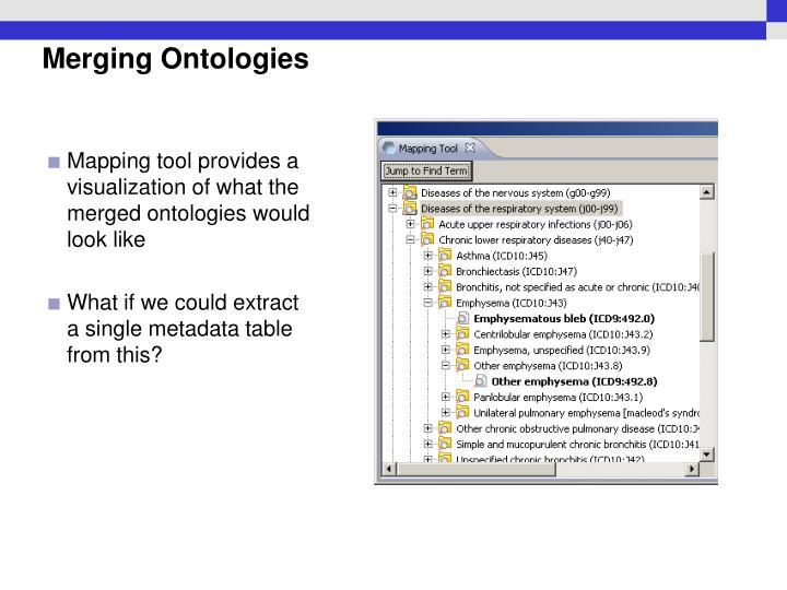 Merging Ontologies