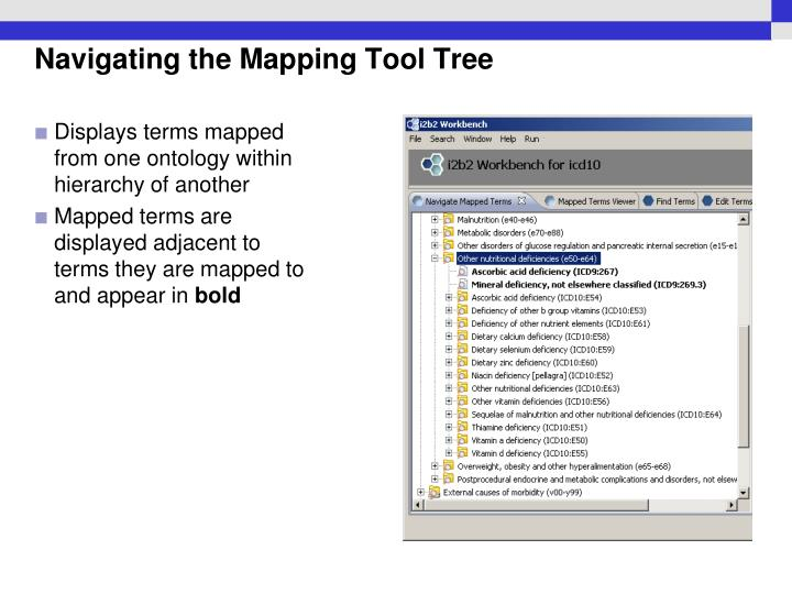 Navigating the Mapping Tool Tree