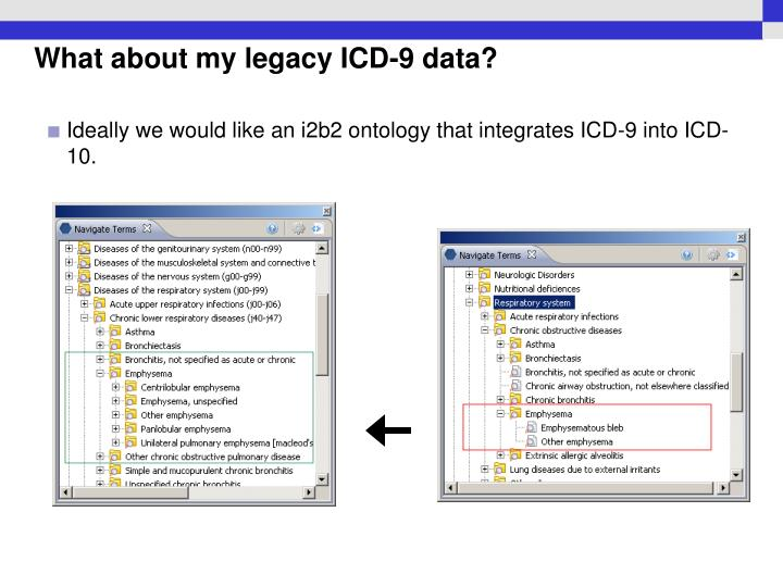 What about my legacy ICD-9 data?