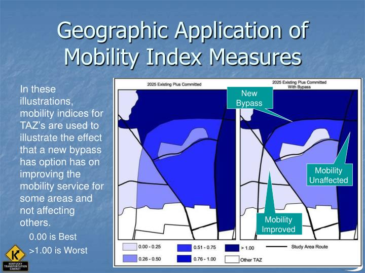 Geographic Application of Mobility Index Measures