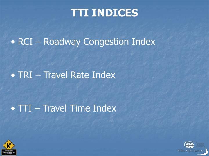 TTI INDICES