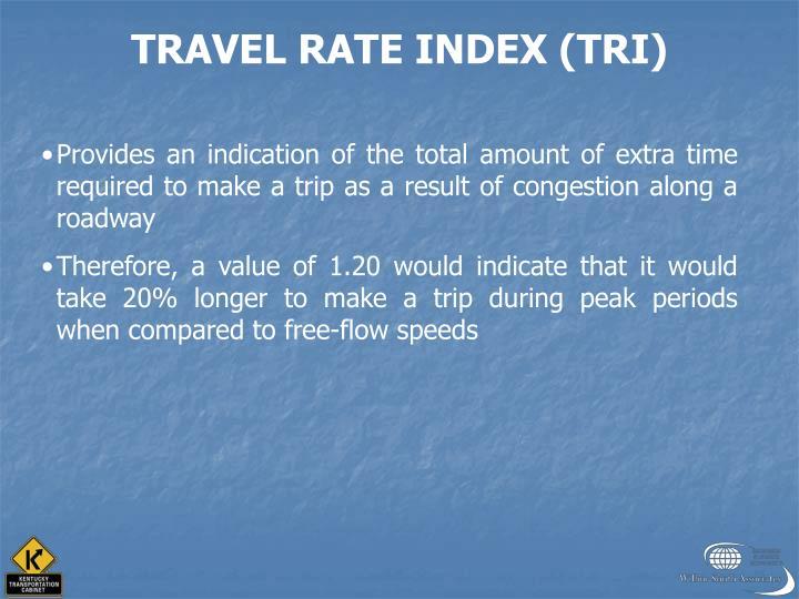 TRAVEL RATE INDEX (TRI)