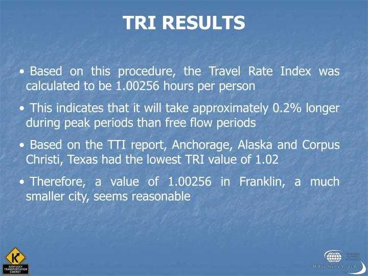 TRI RESULTS