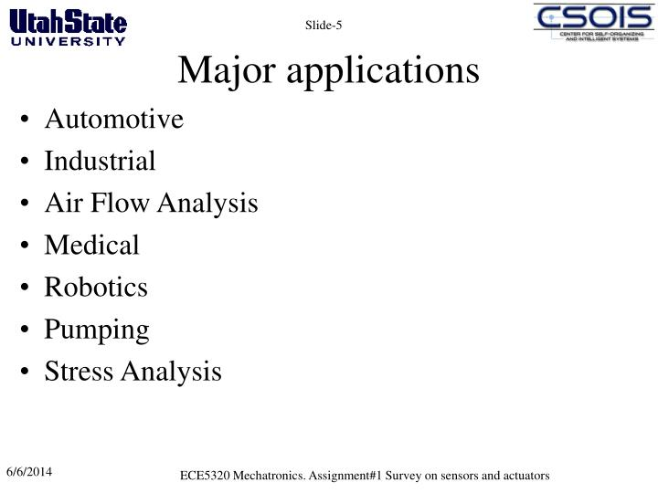 Major applications