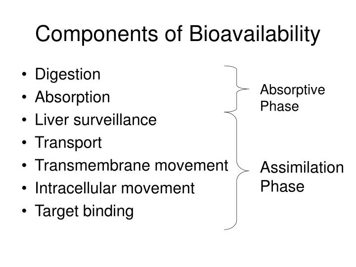 Components of Bioavailability