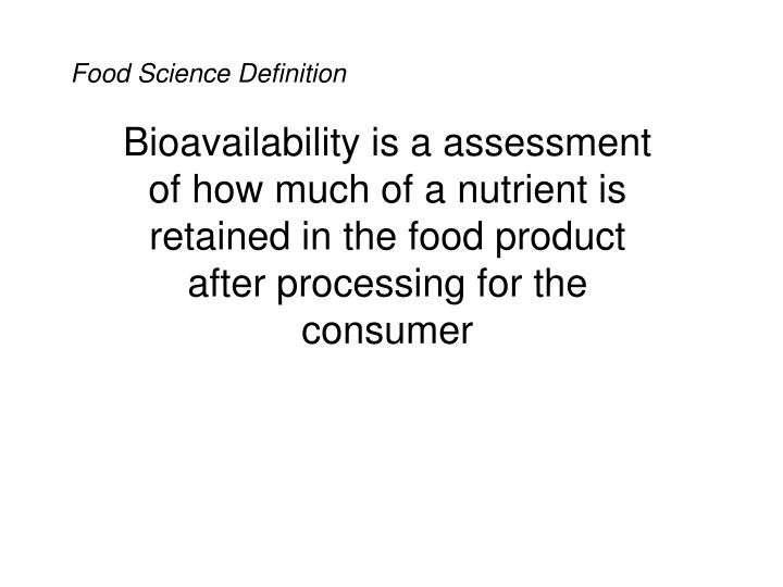 Food Science Definition