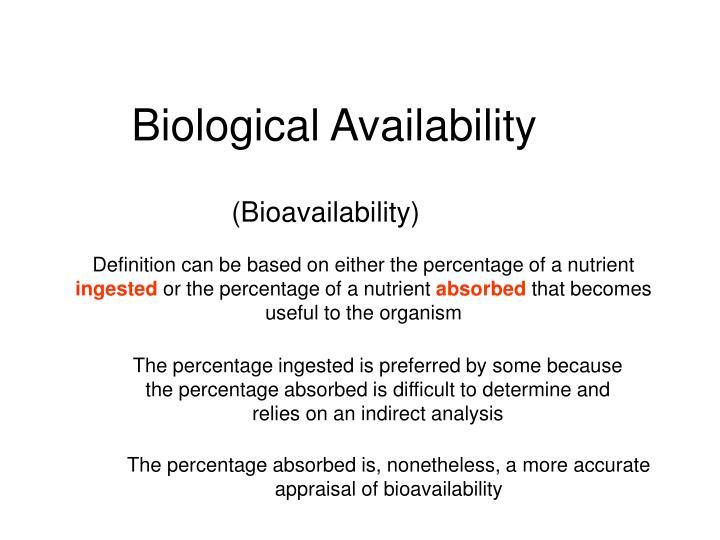 Biological Availability