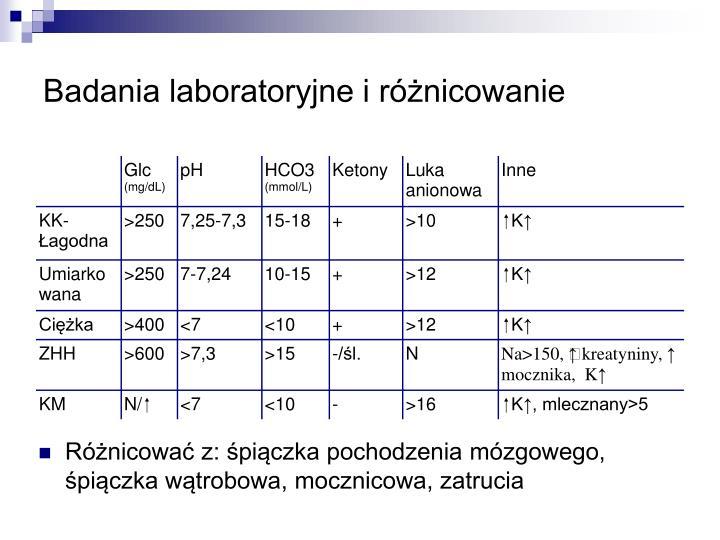 Badania laboratoryjne i różnicowanie