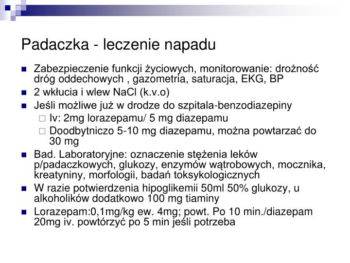 Padaczka - leczenie napadu